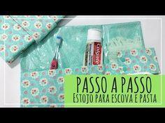 PASSO A PASSO Estojo para escova e pasta dental - YouTube