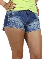 Resultado de imagem para jeans branco bordado