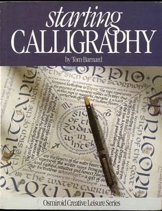 """Pretty funny that the title of this book is """"Starting Calligraphy"""" and the piece they illustrate it with is incredibly complex!"""