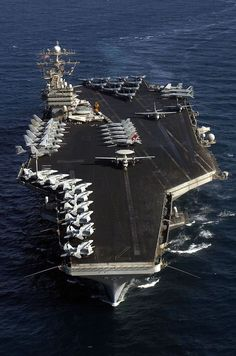 - Aircraft assigned to Carrier Air Wing Seven embarked aboard USS George Washington (CVN are parked in formation on the flight deck during a strike group photo. Us Navy Aircraft, Navy Aircraft Carrier, Military Aircraft, Navy Marine, Navy Military, Military Pins, Military Art, Poder Naval, George Washington
