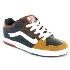 b814581dfbc Vans Desurgent Mens Leather Skate Shoes - black blue brown £48.75 Van Shoes