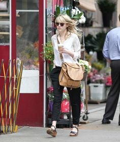 Emma Stone Makes a Coffee Run in NYC