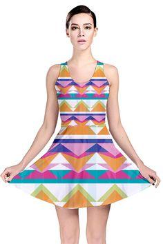Triangle Waves_MirandaMol Reversible Skater Dress #pinkcess #mirandamol #fashion #cool #dress #summer #pinkcess #pinkcessfashion #pnkx