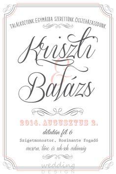 Invitation card with different fonts - klasszikus esküvői meghívó különböző Invitation Fonts, Invitation Design, Different Fonts, Book Design, Wedding Designs, How To Plan, Inspiration, Party, Decor