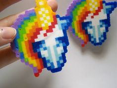 rainbow_unicorn_perler_earrings_by_msdeerborn-dapyjy8.jpg (1024×769)