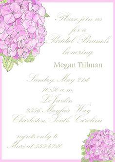 80e59bb7df9 Bridal Brunch Invitation Hydrangeas by celebrationspaperie