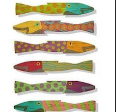 Paint wooden fish