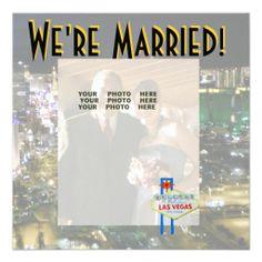 Las Vegas Wedding Photo Announcements