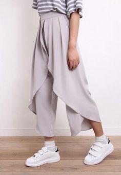 2-layered Chiffon Pants