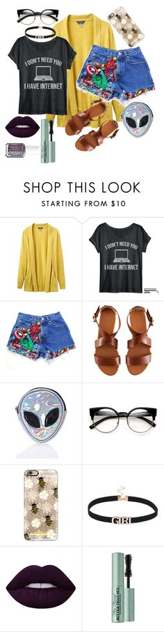 """""""Lazy Afternoon"""" by nroyalxx ❤ liked on Polyvore featuring Joules, Levi's, H&M, Disturbia, ZeroUV, Casetify, Lime Crime, Too Faced Cosmetics and Essie"""