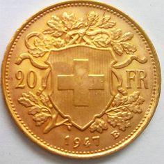 Catawiki Online-Auktionshaus: Schweiz - 20 Franken 1947 B Bern Vreneli - Gold Bern, Coins, Personalized Items, Auction, Switzerland, Rooms