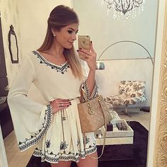 Sexy Women Batwing Long Sleeve Party Floral Evening Cocktail Casual Mini Dress #Unbranded #BallGown #Cocktail