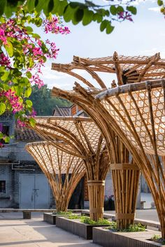 atelier cnS works with locals to build the changqi stadium bamboo corridor