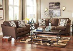 Yuma Furniture   Yuma, AZ Janley Chocolate Sofa U0026 Loveseat