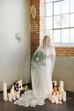 geometric modern wedding ideas - photo by Emily Sacco Photography http://ruffledblog.com/urban-garden-party-wedding
