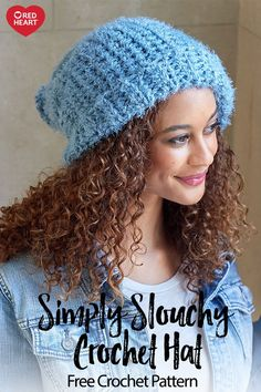 Simply Slouchy Crochet Hat free crochet pattern in Hygge yarn. This  extremely soft and drapey fce3ee614ee