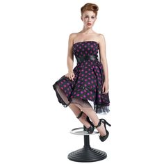Big Purple Dots - Dress by H&R London - Article Number: 260981 - from 48.99 € - EMP Merchandising ::: The Heavy Metal Mailorder ::: Merchand...
