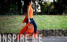 ¿El color más brillante para  primavera verano 2018 ?  Naranja  No es un tono fácil de usar, pero al mismo tiempo nos encanta vestirse de naranja cuando llega la temporada de calor. A pesar de Burian y toda la nieve y el frío, pensamos en el aspecto naranja más increíble  .    Chiara Ferra...