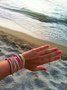 Hand in the sea