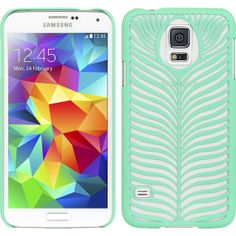 For Samsung Galaxy S5 Teal Rubber Feather Crystal by TunzOfCases, $9.99
