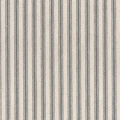 James Thompson House Designer - Ticking Woven Stripes - Ticking Woven Stripes in Steel Grey