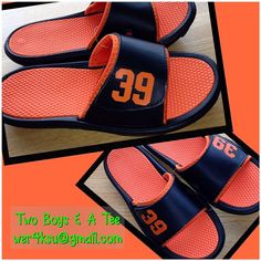 Hey, I found this really awesome Etsy listing at https://www.etsy.com/listing/182291521/personalized-sports-slide-sandals