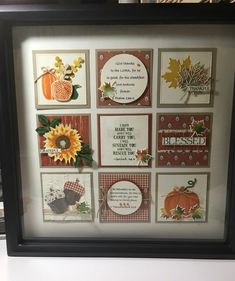Shadow Box Memory, Shadow Box Art, Wall Art Crafts, Paper Crafts, Paper Art, Box Frame Art, Personalised Frames, Stampinup, Stamping Up Cards