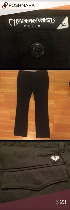 C1RCA C1 Blackheart Angels Denim Black Pants With A Stretch. Brand Is C1 C1RCA Blackheart Angels Denim- Vixen Style. Never Worn With Tags. Vintage-No More Made. No Stains Or Blemishes. Size 34. C1RCA Pants Straight Leg