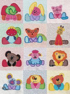 Stuffed Animals Applique and Quilt Blocks