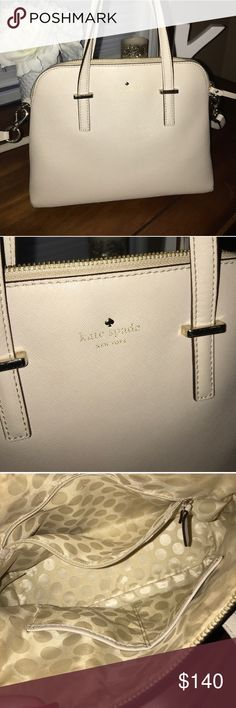 "Price drop!! Kate Spade bag! Beautiful winter white Kate Spade bag! Like new! 11""x9""x4.5 kate spade Bags"
