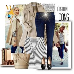 jeans and stripes, created by bodangela on Polyvore
