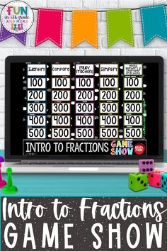 Are you looking for a fun way to teach and review fractions in upper elementary? This jeopardy style game show will engage your students to review basic fraction skills. This digital game show is no prep & self checking so it will save you SO much time on teacher prep! Reviews the following fraction skills: identifying fractions, comparing fractions, equivalent fractions, simplifying fractions, and mixed numbers/improper fractions Fun Math Games, Vocabulary Games, Classroom Games, Cause And Effect Games, Context Clues Games, Math Websites, Fraction Games, Nonfiction Text Features, Fact And Opinion