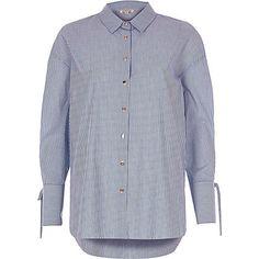 Blue stripe print shirt £28.00