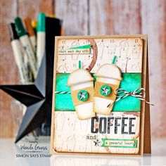 Uses mini Fresh Brewed die 1 Lucky Clover SSS Blog 12-30-15