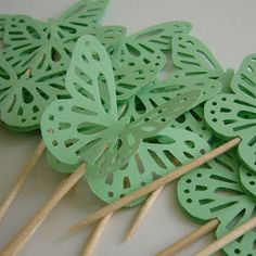 Butterfly cupcake picks
