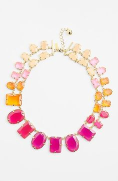 kate spade new york 'coated confetti' collar necklace