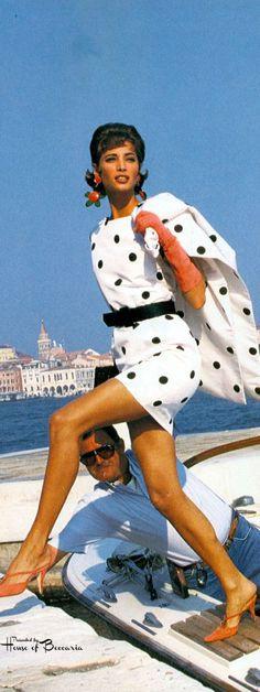 "~""Venetian Holiday"", Vogue US, December 1990 Photographer: Patrick Demarchelier Model: Christy Turlington | House of Beccaria#"