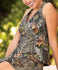 Love this Mossy Oak® Break-Up® Green Camo Tankini on #zulily! #zulilyfinds