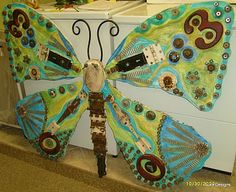 Giant Junk Art Butterfly