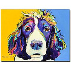 @Overstock - Show off your fun side with this contemporary Pat Saunders-White print. Featuring a colorful puppy, this abstract piece is both modern and whimsical, making it ideal for animal lovers and art enthusiasts. This gallery-wrapped canvas is ready to hang.http://www.overstock.com/Home-Garden/Pat-Saunders-White-Sadie-Canvas-Art/4711882/product.html?CID=214117 $81.99