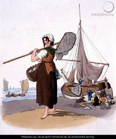 Female Shrimper by Williams Henry Pyne, 1805