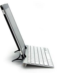 ipad and full-sized apple wireless keyboard via wingstand