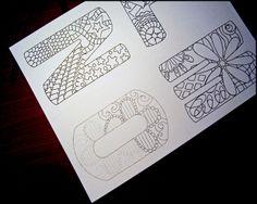 Draw.Doodle.Decorate - .Draw.Doodle.Decorate - Alphabet Doodles…halfway