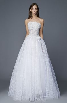 """The """"Flying Away"""" Antonio Riva Bridal Collection for 2017 nuptials is a melding of vintage Hollywood glamour and contemporary chic. Vintage Hollywood, Hollywood Glamour, Amazing Wedding Dress, Dream Wedding Dresses, Bridal Dresses, Wedding Gowns, Formal Dresses For Weddings, Special Dresses, Bridal Collection"""