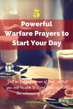 5 Powerful Warfare Prayers to Start Your Day - Morning Prayers Prayer Box, God Prayer, Power Of Prayer, Daily Morning Prayer, Morning Prayers, Spiritual Warfare Prayers, Spiritual Life, Prayer Changes Things, Christian Life