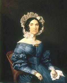 1836 Ferdinand Georg Waldmueller Портрет молодой дамы в голубом платье