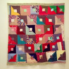 by Sallie Gladney, Log Cabin Variation, 1989
