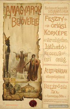 Basch Árpád - A magyarok bejövetele, 1895 Hungary History, Driftwood Art, Budapest, Vintage Posters, Painting, Times, Poster Vintage, Painting Art, Paintings
