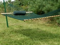 Kingcord: Deluxe Rope Hammock - Medium Forest Green