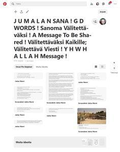 Screenshot: Pinterest H Words, The Calling, Torah, The Covenant, To Tell, Forgiveness, Pusheen, Jesus Christ, Helsinki